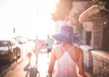 Beautiful Girl with Hat in Sun
